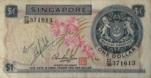 Đồng tiền người lính Singapore ký tặng tác giả để làm kỷ niệm